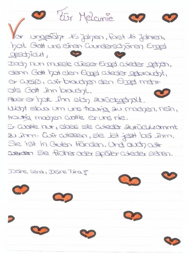 Briefe Für Beste Freundin : Die ersten beiden briefe sind von ihren freundinnen lena